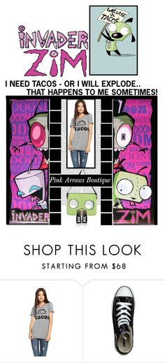 """""""Pink Arrows Boutique (26)"""" by irresistible-livingdeadgirl ❤ liked on Polyvore featuring Converse, emo, hottopic, tacos and pinkarrowsbtq"""