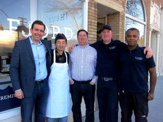 Jim Thistle, Sung Jeong, Brian Hayslip, Chris Haggarty, and Glenford Neuman from Fjord Fish Market