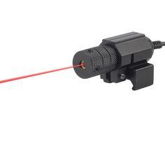 1 대 전술 레드 도트 미니 레드 레이저 시력 꼬리 스위치 범위 권총 길게한다 쥐 꼬리 사냥 광학 무료 배송