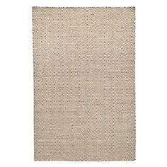 Ręcznie tkany dywan Kilim Chevron White/Brown, 200x290 cm | Bonami