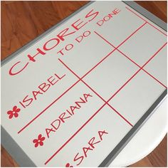 Personalized Chore Chart Vinyl Decal - Customized Children Chore Organization - To Do Done Chart for