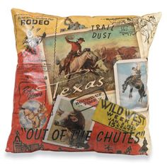 Rodeo Cowboys (Texas) Pillow