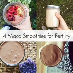 4 Maca Smoothies for Fertility Maca is an ancient herb eaten for centuries due to its benefits for fertility and libido. If trying to conceive, try one of these maca smoothie recipes. Apple Smoothies, Healthy Smoothies, Healthy Drinks, Smoothie Recipes, Green Smoothies, Healthy Food, Protein Recipes, Healthy Life, Diet Recipes