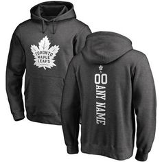 03acb9d6d Fanatics Branded Toronto Maple Leafs Charcoal Personalized One Color Backer  Pullover Hoodie Chicago Blackhawks