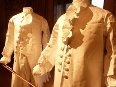 Costumes made from Tyvek from the Glorious Georges exhibition at Kensington Palace