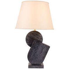 "Ebonized ""Pierre"" lamp by Kimille Taylor"