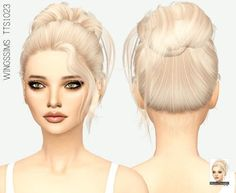Medium Bun Do-up Hair for The Sims 4 Years ago, when the number of attendees The Sims 4 Pc, Sims 4 Cas, Sims Cc, Two Buns Hairstyle, Bun Hairstyles, The Sims 4 Cabelos, Pelo Sims, Sims 4 Cc Kids Clothing, Color Rubio