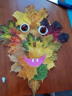 Crafts For Kids, Arts And Crafts, Leaf Art, Type 3, Cool Designs, Leaves, Autumn, Facebook, Nature