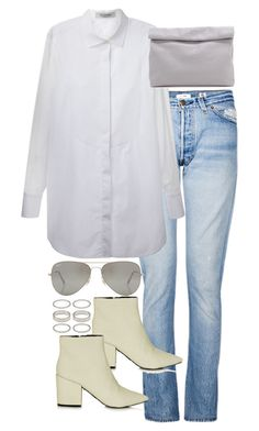 """""""Untitled #2839"""" by angieswardrobe ❤ liked on Polyvore featuring RE/DONE, Valentino, Topshop, Marie Turnor, Rayban and Forever 21"""