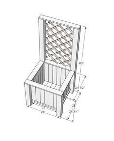 Ana White   Build a Planter Box with Trellis   Free and Easy DIY Project and Furniture Plans