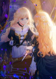 Anime Angel Girl, Cool Anime Girl, Pretty Anime Girl, Beautiful Anime Girl, Kawaii Anime Girl, Anime Art Girl, Fille Blonde Anime, Blonde Anime Girl, Anime Girl Drawings