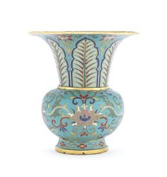 A cloisonné enamel wall vase Qianlong. AUCTION 22655: ASIAN ART 25 Feb 2015 10:30 GMT LONDON, KNIGHTSBRIDGE