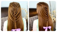 How to do waterfall twists into mermaid braid hairstyles step by step DIY tutorial instructions, How to, how to do, diy instructions, crafts, do it yourself, diy website, art project ideas