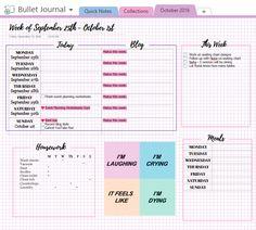 bullet journal template for onenote
