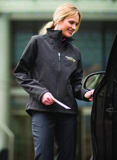 You sweat the details and the coat wicks the moisture. The 2-layer bonded fabric offers breathable, comfortable stretch and warmth when its cool. Easy to embroider.