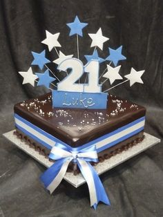 pictures for 2ist birthday cake boy - Google Search