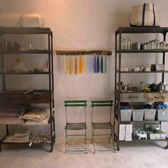 Hito- an interiors shop in Pollenca, Mallorca. Love the shelves.