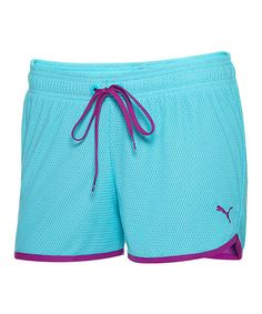Take a look at this Blue Open Mesh Shorts by PUMA on #zulily today!