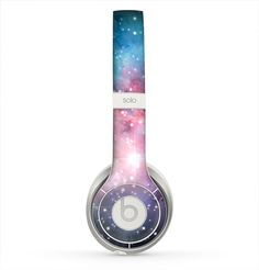 The Colorful Neon Space Nebula Skin for the Beats by Dre Solo 2 Headphones