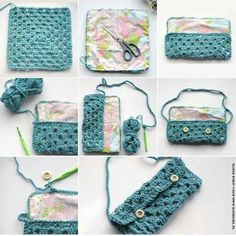 Bolso ganchillo y tela Bag crochet plus fabric