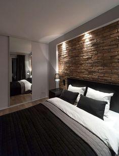 Kis lakás egy férfi lakónak - 34m2, modern, egyszerű, funkcionális - néhány látványelemmel