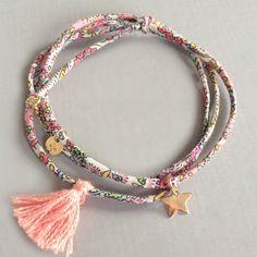 Image of Bracelet Pompon Etoile Plaqué Or