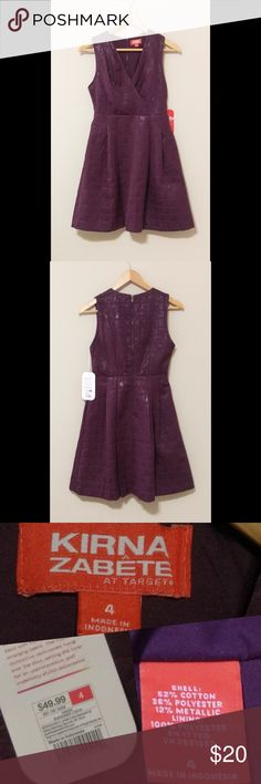 🆕 Kirna Zabete | Metallic Fit & Flare Mini👗 NWT New with tag Lorna Zabete for Target burgundy metallic jacquard fit and flare mini dress.   Flattering V-neck and elegant metallic print make a fun & colorful alternative to a LBD for a night on the town, party or any event.  Size: 4  Non-smoking/No pet home  Please review all photos and submit questions if needed. Kirna Zabete Dresses Mini