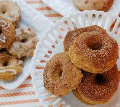 Cinnamon Pumpkin Baked Doughnuts. A possible for our next bake sale?