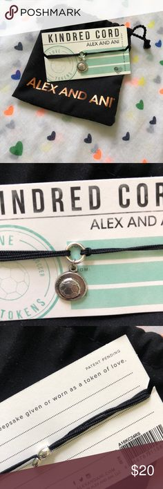 Alex and Ani new kindred cords soccer ball Alex and Ani new kindred cords bracelet.  The bracelet is a soccer ball.  Bracelet is new. Alex and Ani Jewelry Bracelets