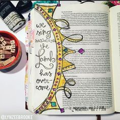 Bible Journaling by /lynzeebrooke/ Art Journaling, Bible Study Journal, Scripture Journal, Bible Prayers, Bible Scriptures, Bible Quotes, Bible Drawing, Bible Doodling, Scripture Art