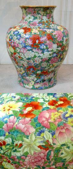 A large Qianlong baluster vase   Mille fleur decoration of the Qianlong period    Musée Guimet, Paris.