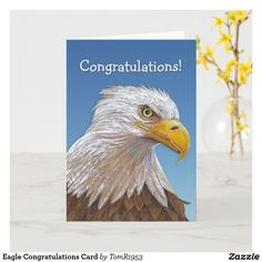 Boy Scout Badges, Eagle America, Congratulations Greetings, Card Tattoo, Eagle Scout, Custom Greeting Cards, Artwork Design, Card Sizes, Thoughtful Gifts