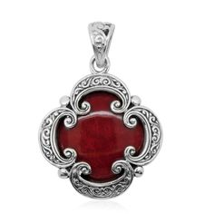 Bali Legacy Collection Sponge Coral Sterling Silver Pendant without Chain TGW 10.00 cts. | pendants | jewelry | online-store | Shop LC