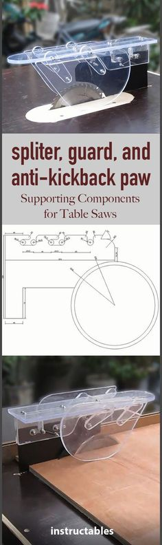 Convenient supporting components for your table saw.