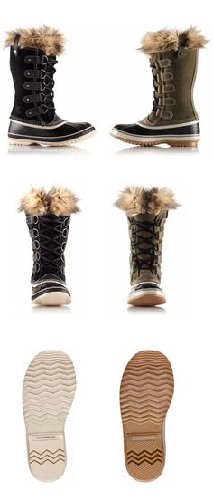 The Sorel Women's Joan of Arctic Boot is a casual boot that can handle deep winter snow. Trudge your way to work without looking like the abominable snowman and instead don the full-grain leather and suede. Waterproof throughout, the boot keeps your feet dry as well as your pant legs. The 6mm recycled felt inner boot with faux fur snow cuff warms while adding a classy touch around your leg. The vulcanized rubber shell completes in a herringbone outsole for traction on ice and snow.