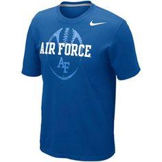 Nike Air Force Falcons Football Team Issue T-Shirt - Royal Blue