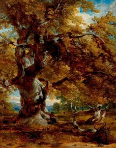 1844 painting of the Major Oak by Henry Dawson