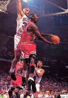 Charles Barkley and Michael Jordan.