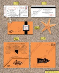 Destination Wedding invitations boarding pass