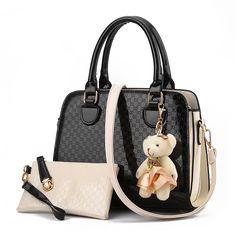 Brand  Bag With Fashion Doll //Price: $52.68 & FREE Shipping //http://likeadiamondworld.com/clelo-brand-new-2016-women-bag-with-fashion-doll-composite-bag-for-female-pu-leather-geometric-print-drop-shipping/