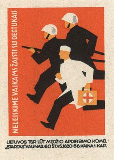 lithuanian matchbox label by maraid, via Flickr