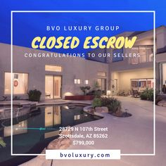 A BIG congratulations to our sellers Joel & Marjorie on a successful close. 💥🏡 Contact BVO Luxury Group for all of your Real estate needs (480) 648-1488.  #mls5521536 #BVOLuxury