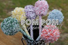 Fancy Pom Pom Pens tutorial!