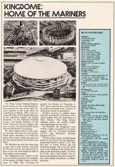 """The Kingdome, """"Home of the Mariners"""""""