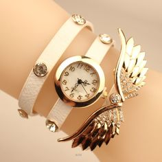 Angel& Wings Pu Strap Watch sold by Watch Me. Shop more products from Watch Me on Storenvy, the home of independent small businesses all over the world. Stylish Watches For Girls, Trendy Watches, Elegant Watches, Luxury Watches For Men, Beautiful Watches, Swiss Army Watches, Accesorios Casual, G Shock Watches, Watch Brands
