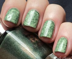 Oooh, Shinies!: Mossy green with cling wrap