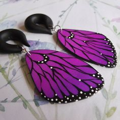 Large Violet Butterfly Wings Guauges
