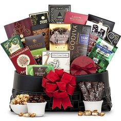 Shop for gift baskets, wine gifts and more at GiftTree. From sympathy gifts to gourmet gift baskets, shop gift ideas for any occasion. Luxury Chocolate, Chocolate Delight, Chocolate Sweets, Chocolate Gifts, Chocolate Truffles, Delicious Chocolate, Chocolate Recipes, Wine Gift Baskets, Gourmet Gift Baskets