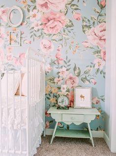 Floral shabby chic vintage nursery