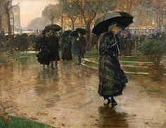 Rain Storm Union Square  by Childe Hassam